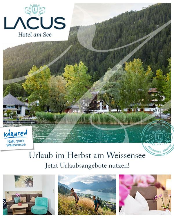 LACUS - Herbsturlaub Babyhotel Weissensee Kärnten